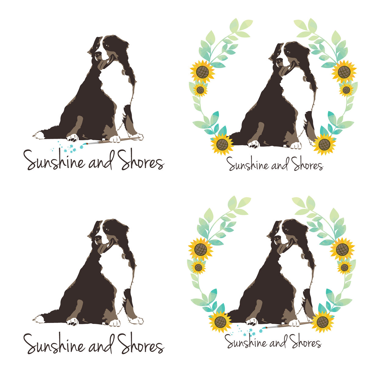 Brand Identity Sunshine And Shores Artistic Services On The