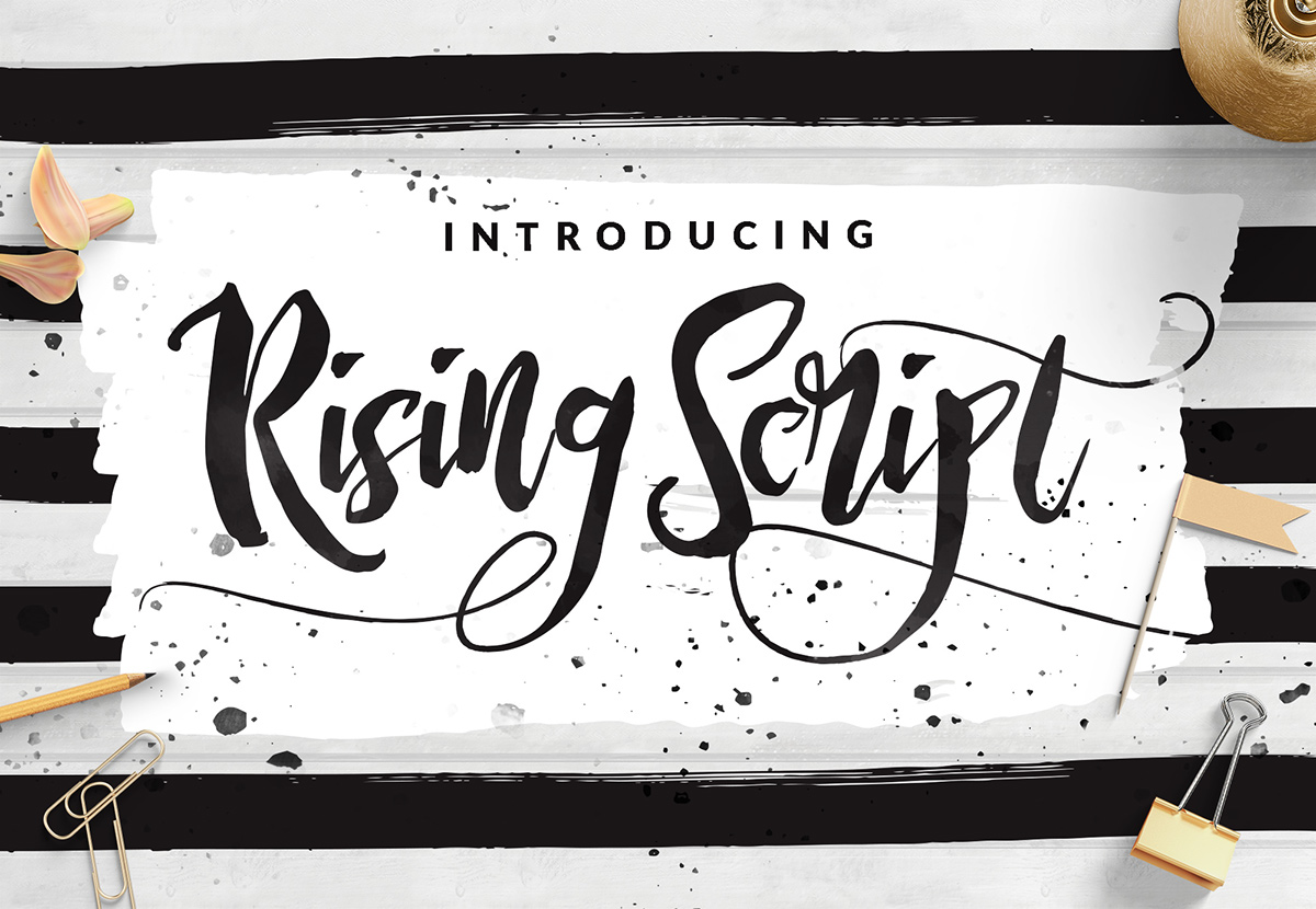 Rising brush script free download on behance
