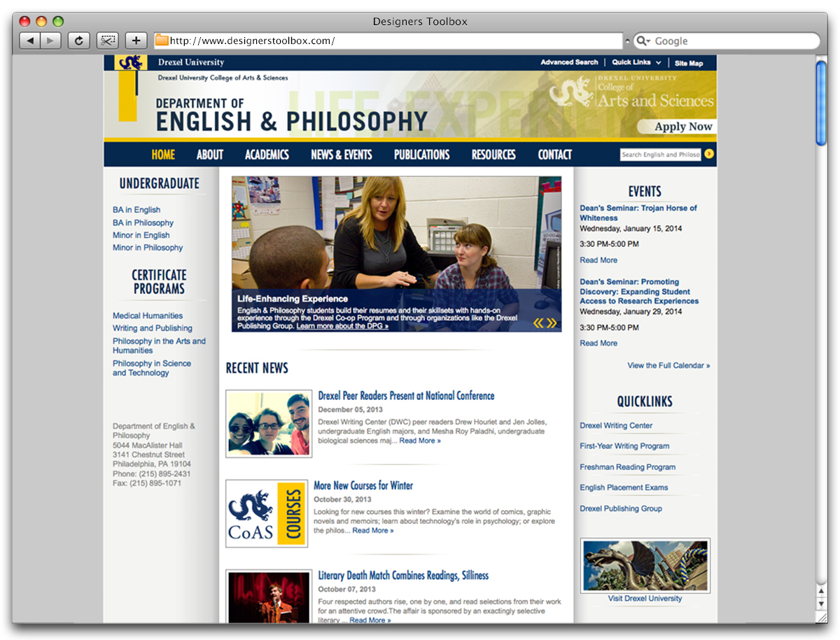 college of arts and sciences drexel university Drexel university - the college of arts and sciences 5 about the curriculum the college of arts and sciences is committed to providing high-quality.