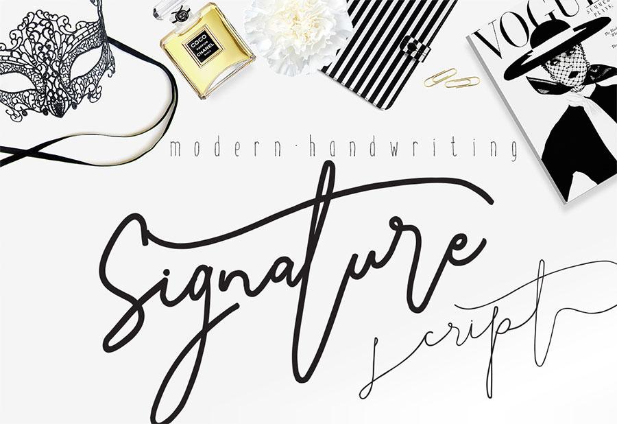 Signature script modern handwriting on behance Modern script font