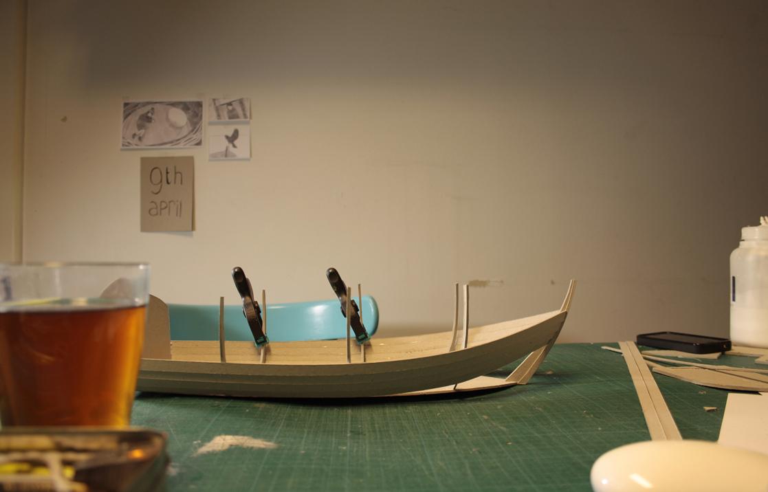stop motion cardboard paper felt set making of Proces vera van wolferen How to Catch a bird boat model miniatures Miniature short