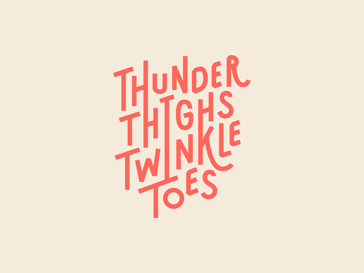 Logotype Business Letters Ballerinas Unconventional Ballet Thunderthighs Twinkletoes Stationery custom type hand-drawn ballet identity visual identity logo hand drawn typography lettering