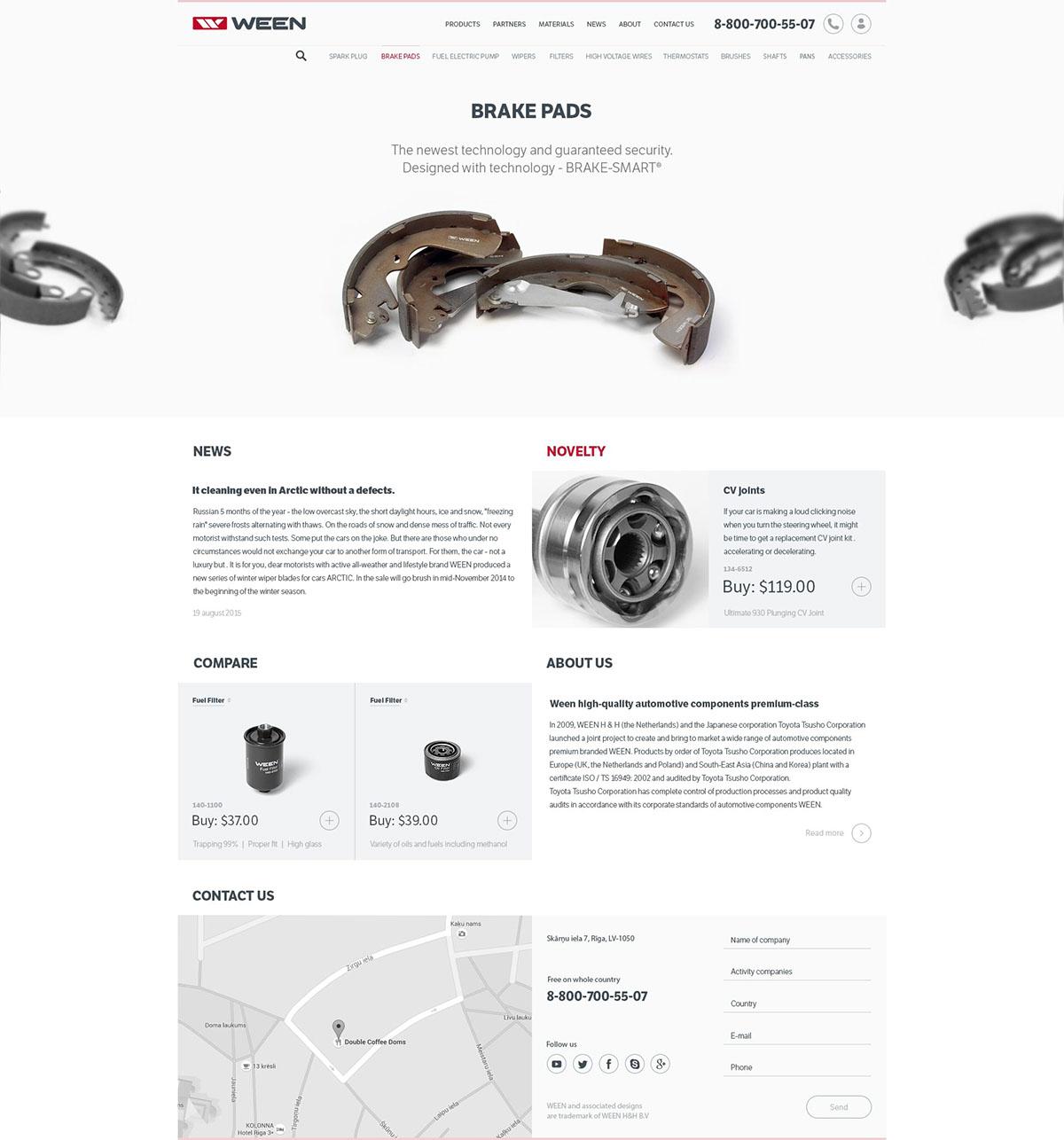 ween equipment tools UI ux Web design photo spark