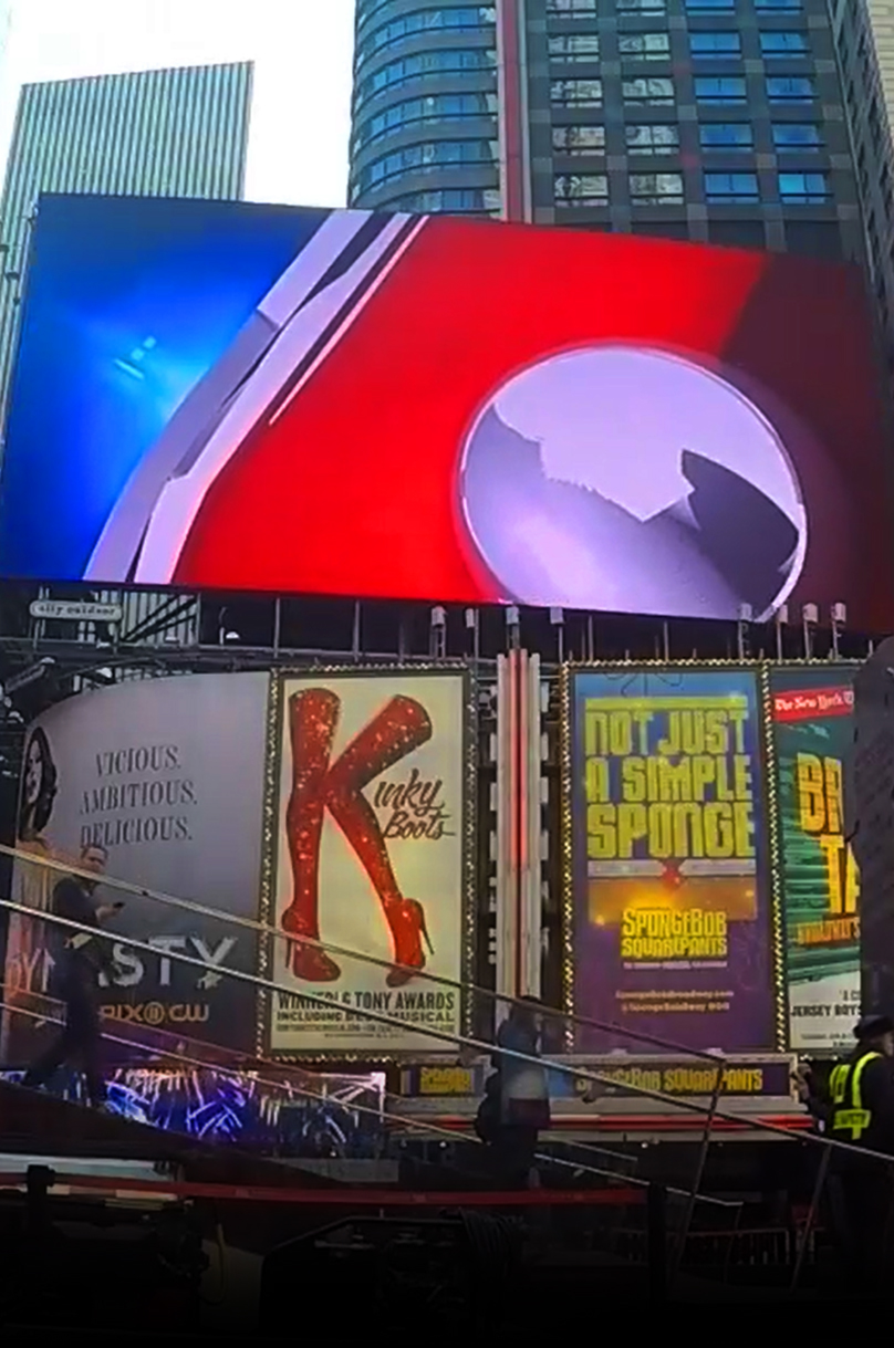 times square nyc Identity protection brand retention animation  video 3d modeling