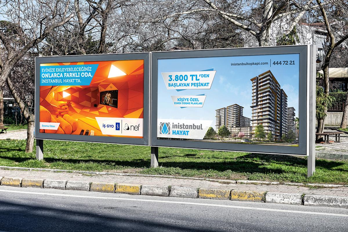 işgyo nef İnistanbul Hayat yapı inşaat lansman tvc poster Outdoor