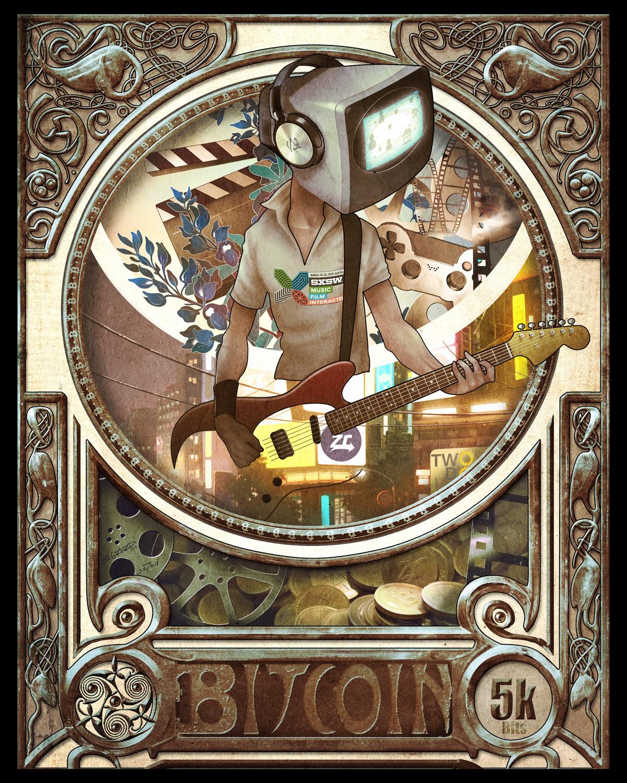 cryptoart sxsw bitcoin ziftrcoin art nouveau