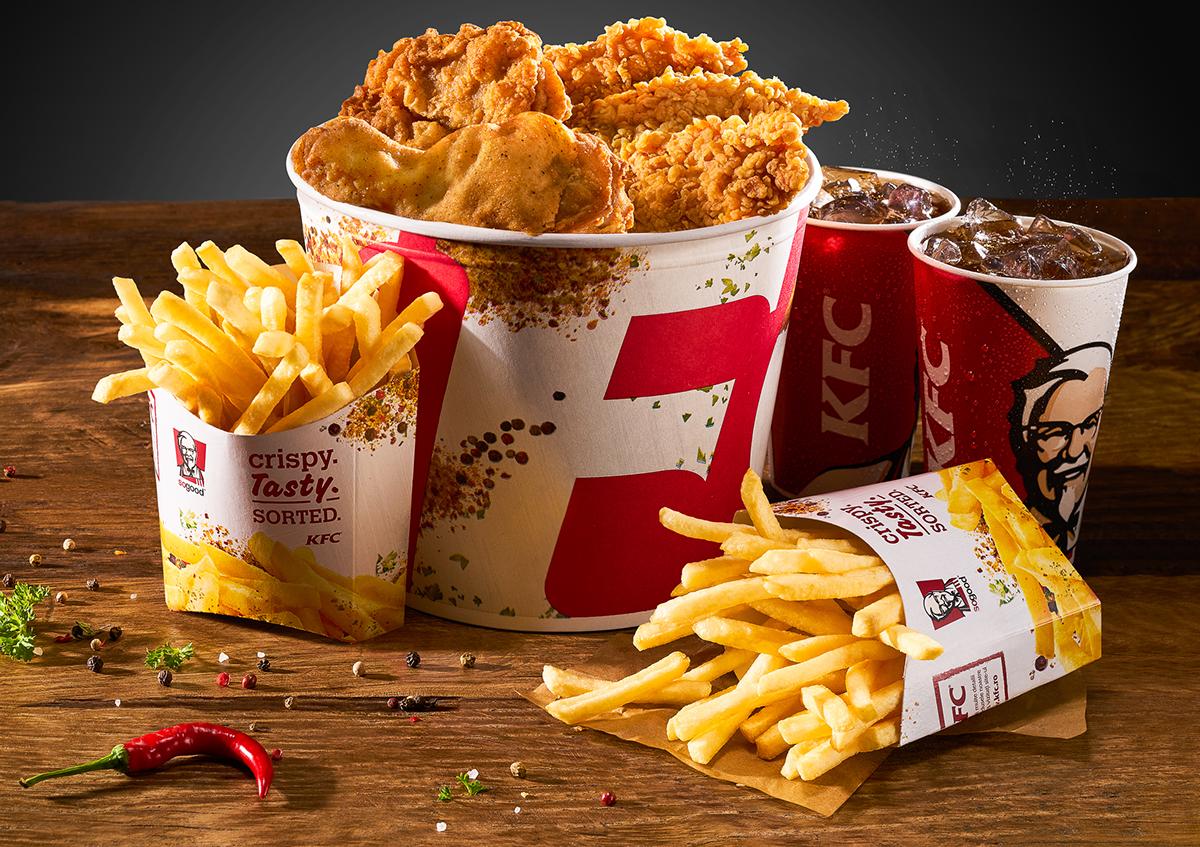 Kentucky Fried Chicken Meal: KFC Romania 2017 Menu On Pantone Canvas Gallery