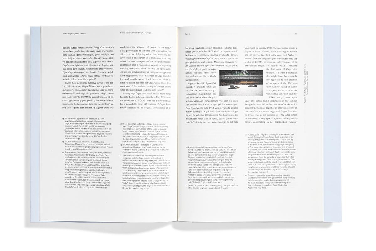 publication contemporary art arter Interpretation John Cage sarkis