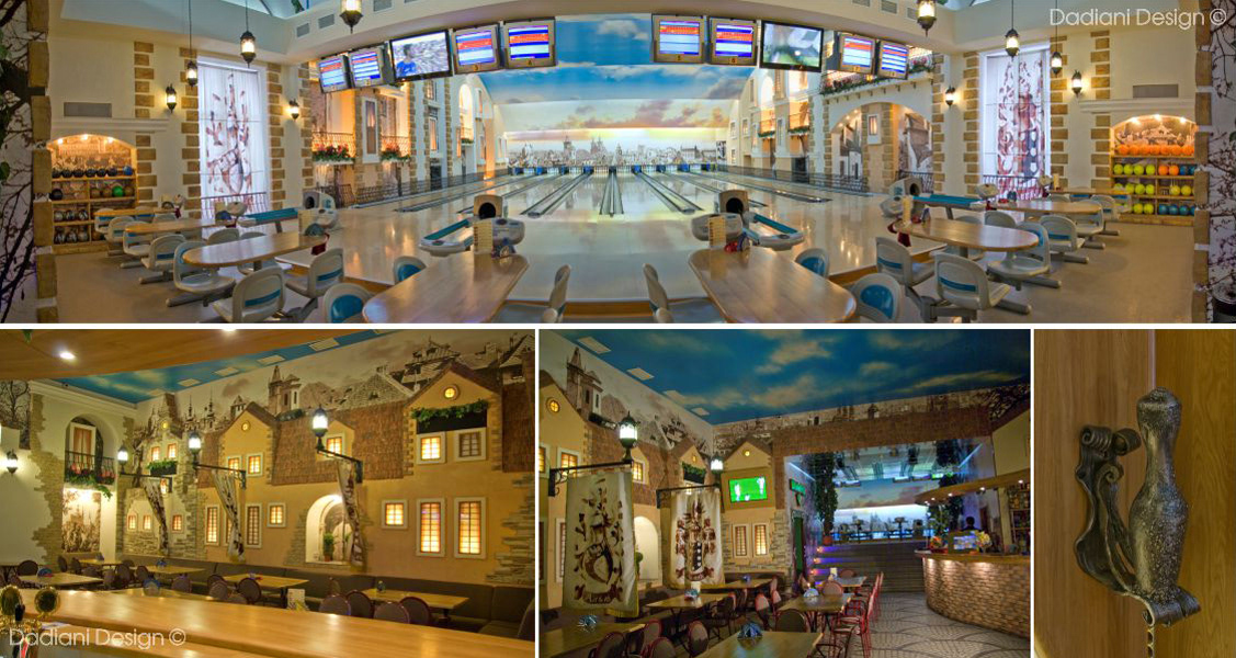 architecture billiard room  bowling Event Interior interior design