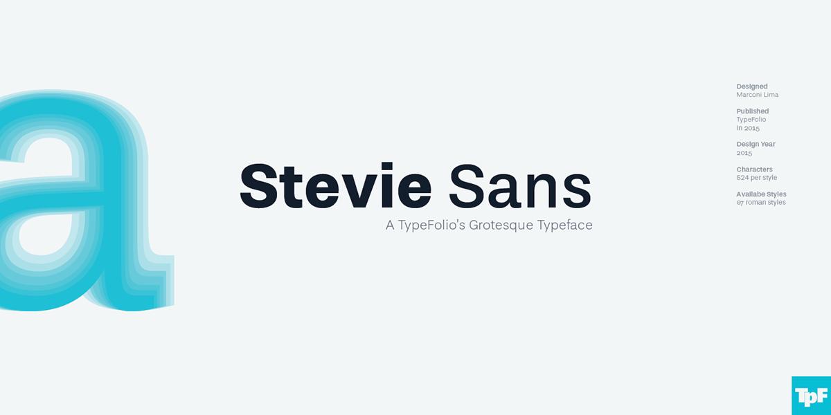 banners banner Typeface type Stevie Sans typefolio Marconi Lima font