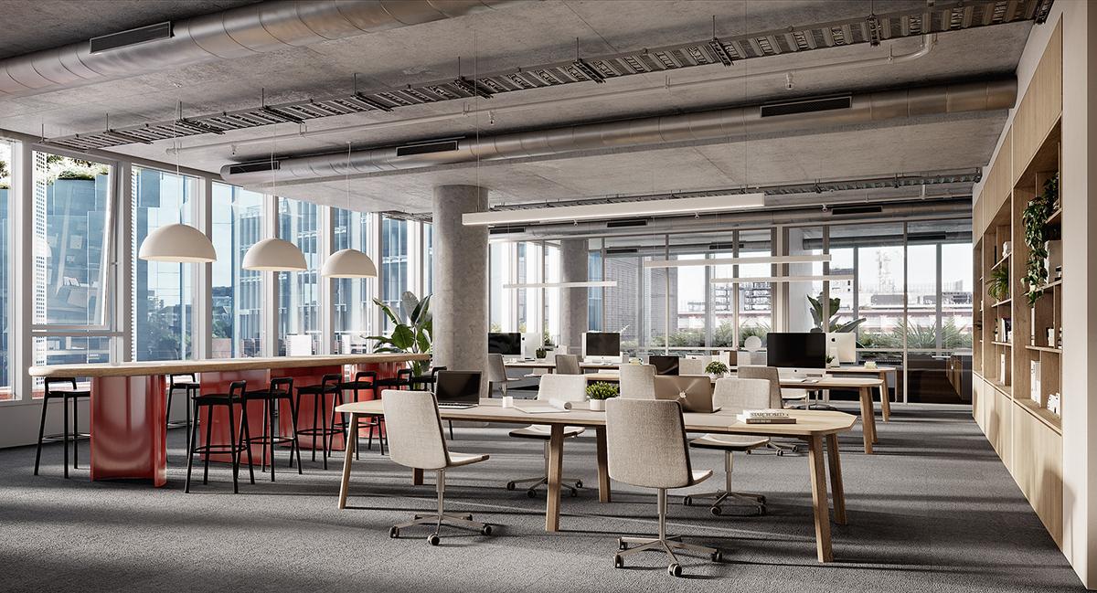 3D Interior architecture architecture render architecture rendering archvis archviz interior render Interior Visualization Office Design visualization