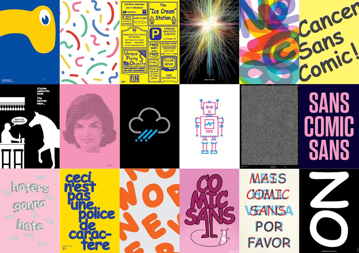 Comic Sans cancer comic sans cancer typographic poster Hey Studio Mash Creative build Believe in  sawdust ILLUSTRATION