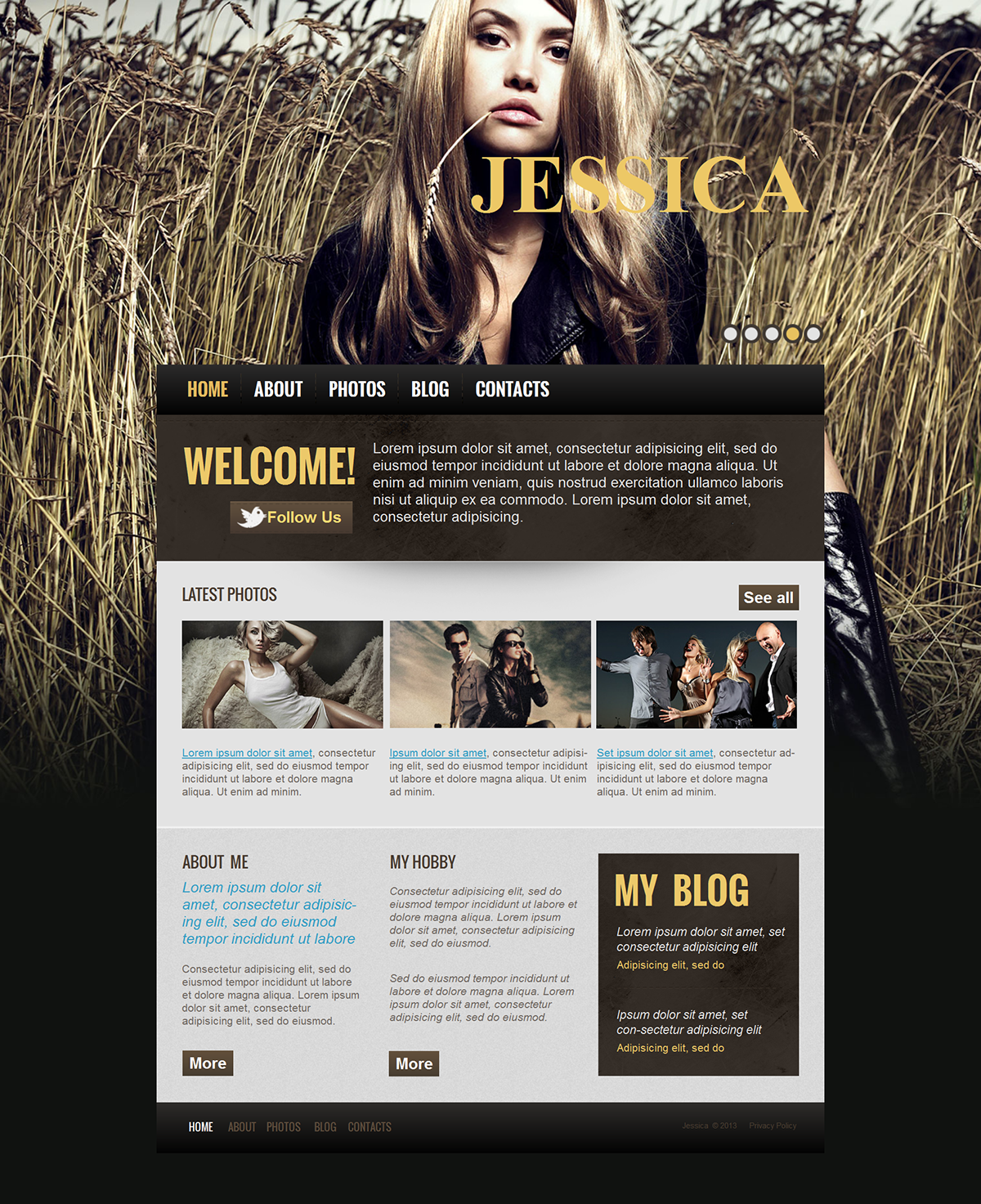PERSONAL WEB TEMPLATES on Wacom Gallery