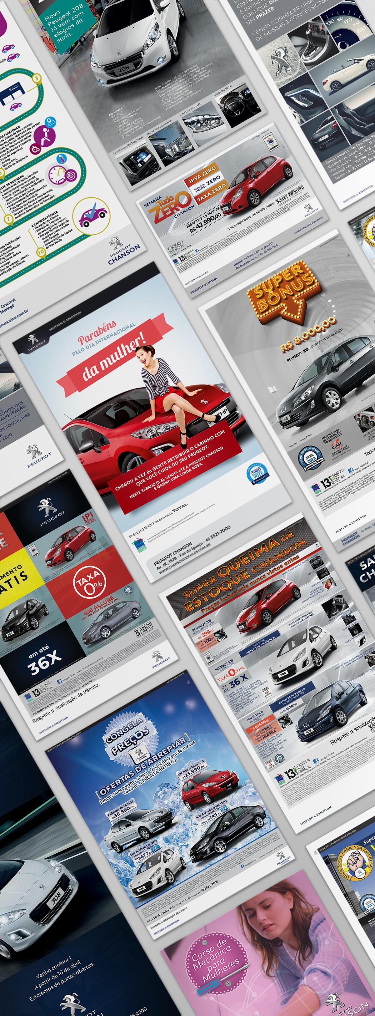 Anúncios de jornal material promocional Roteiros e VT
