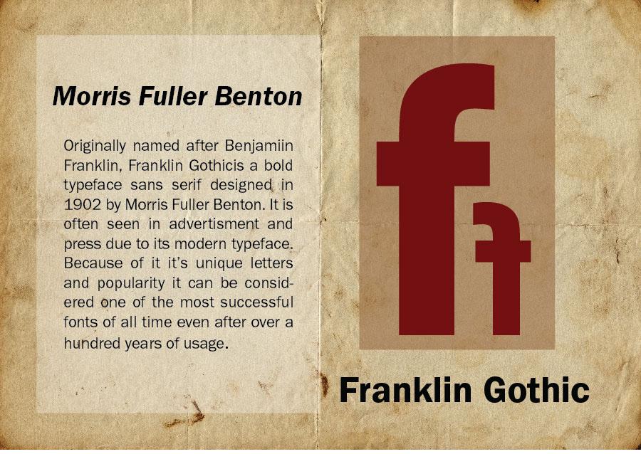 Franklin Gothic Mailer on Behance
