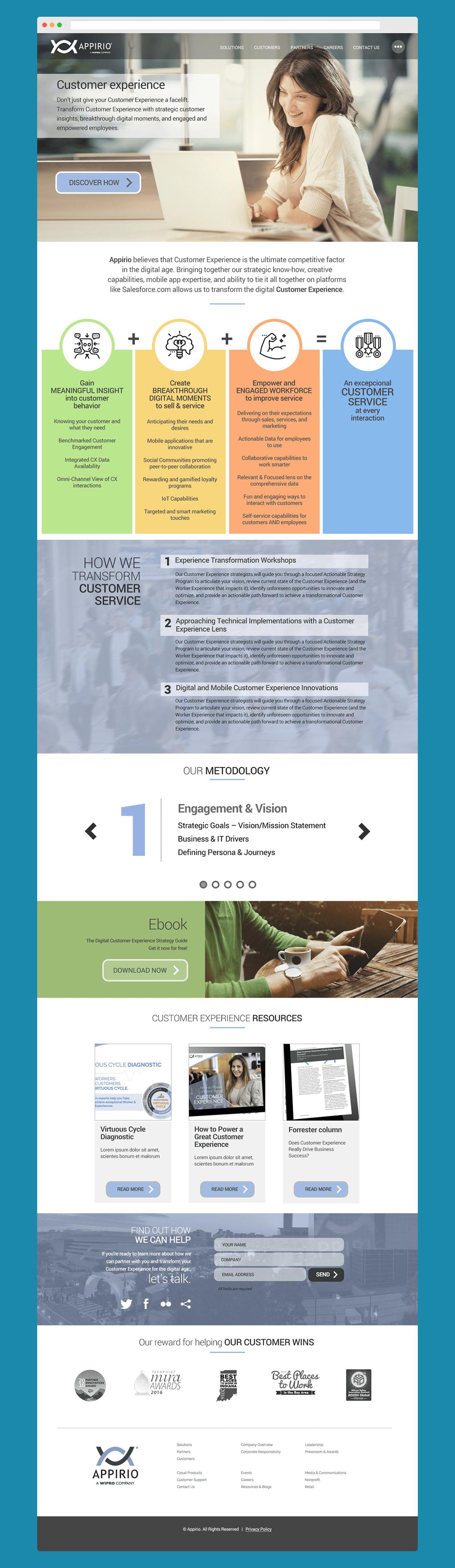 Appirio - Rediseño sitio web