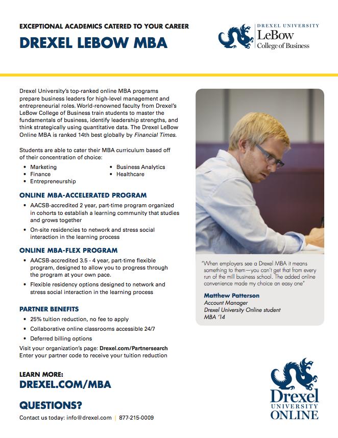 Drexel University Online Program Flyers on Behance