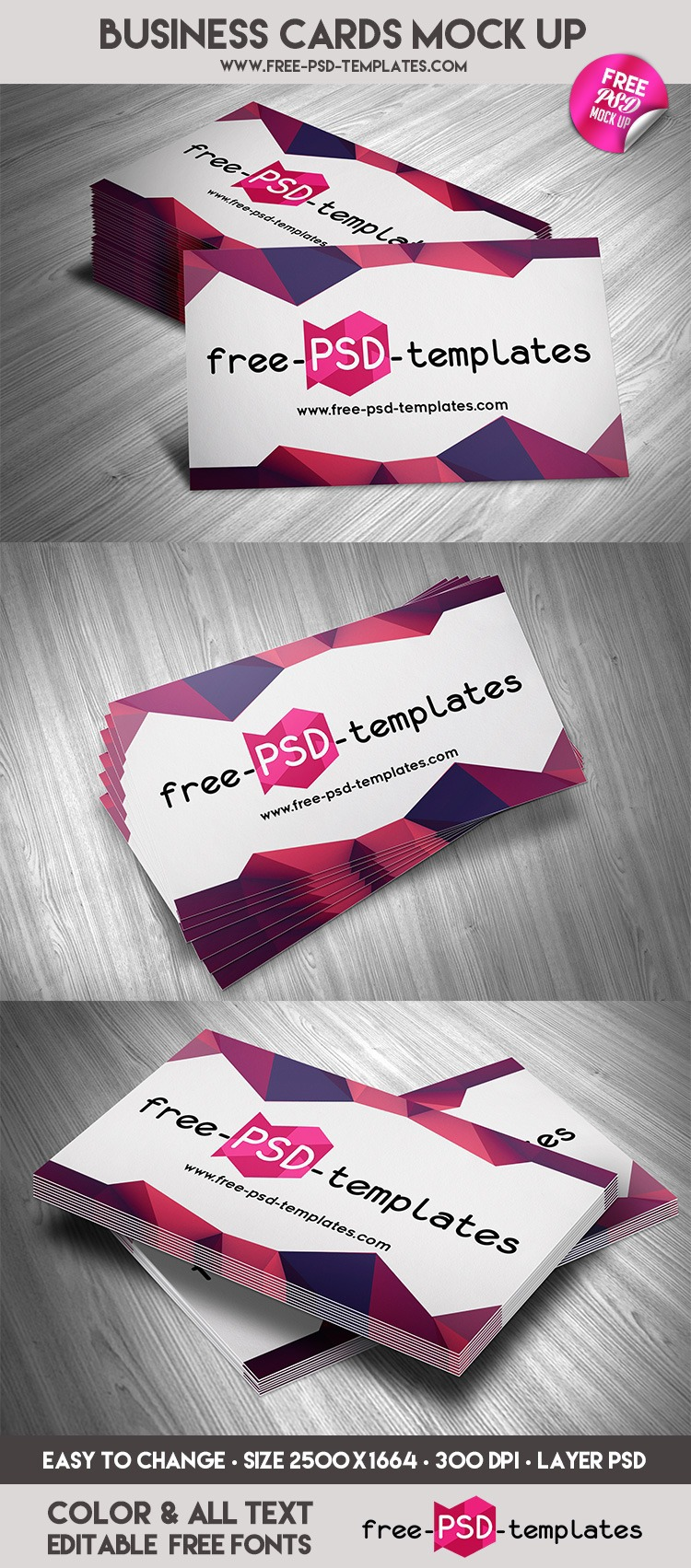 FREE BUSINESS CARDS MOCK UP IN PSD on Behance