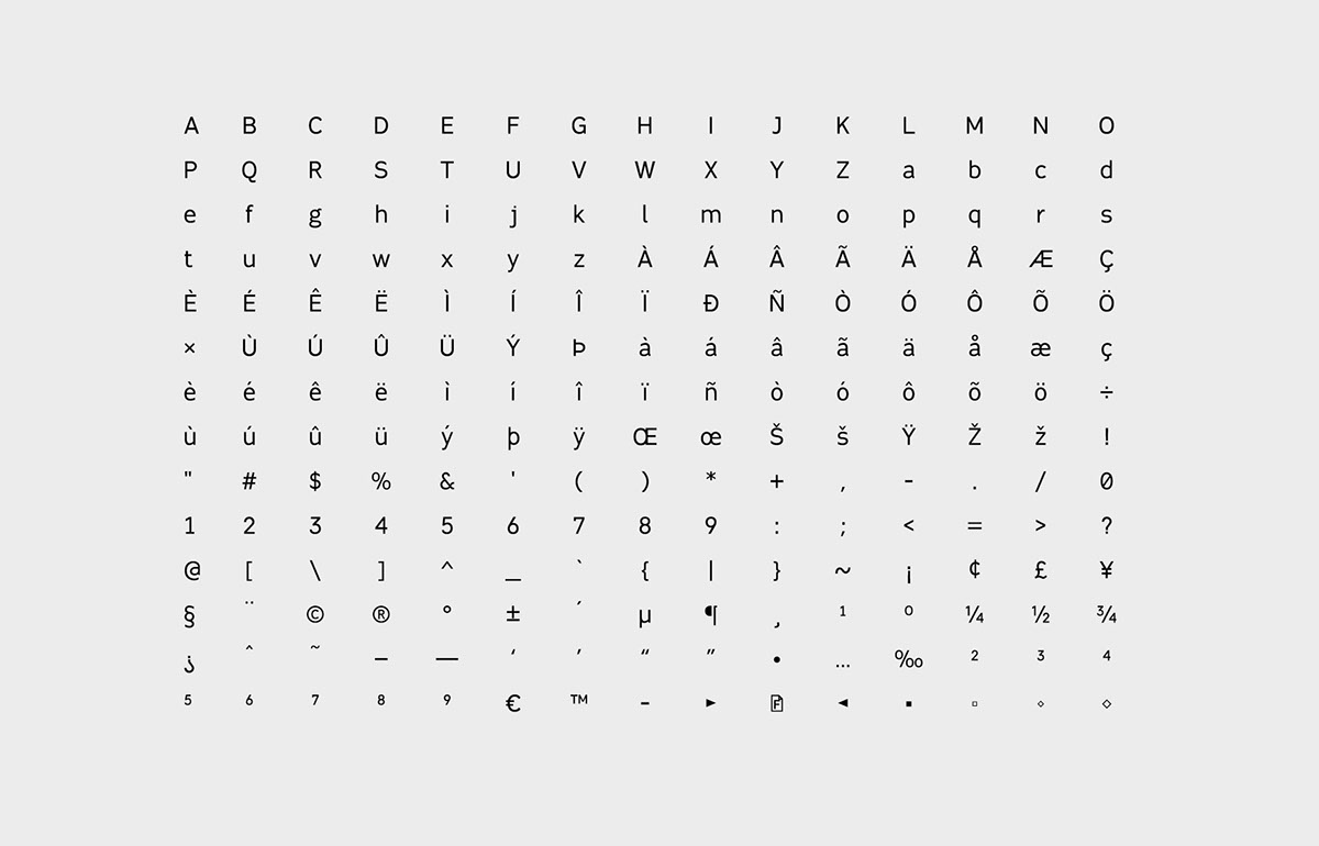 fabrica typeface mobile font Type Specimen emily carr sans serif neo grotesques student font Vancouver font designer Vancouver student designer free font download free typeface