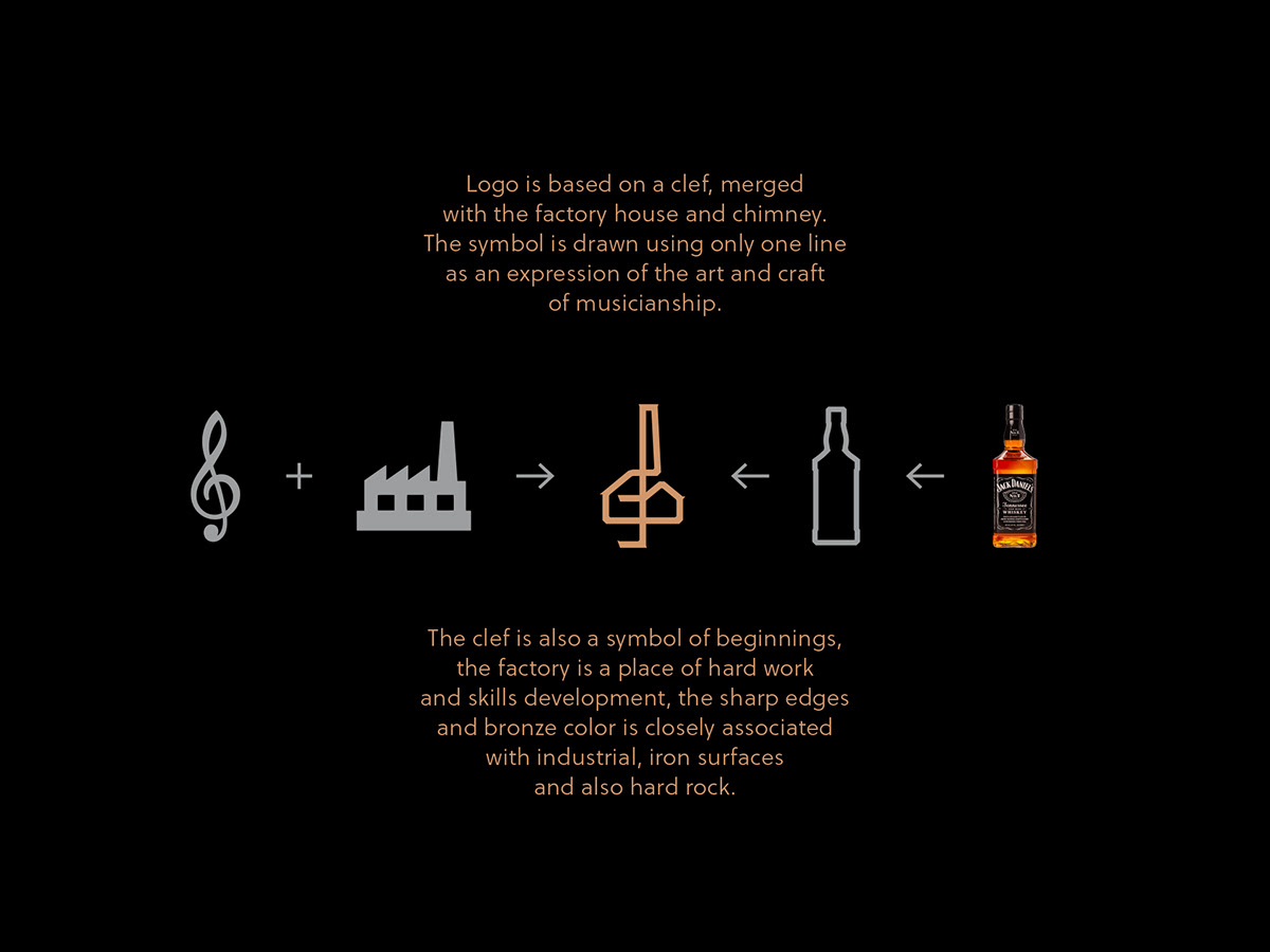 logo,prague,music,czechia,European Design Awards,factory,silver,rock,craft,Clef