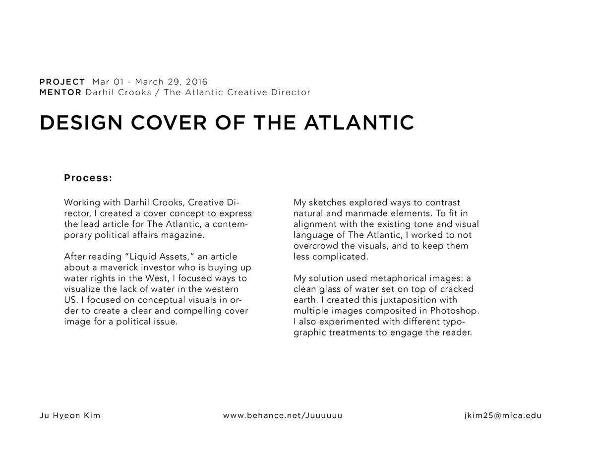 The Atlantic cover design