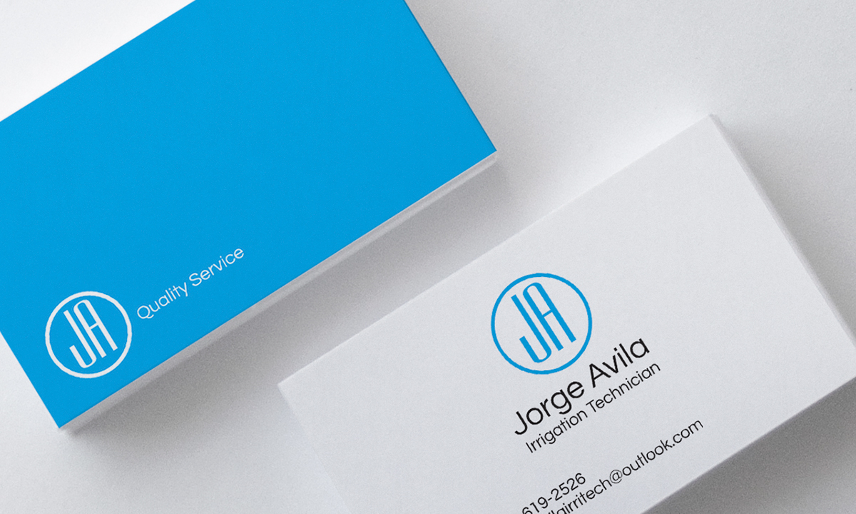 Irrigation technician business card on behance colourmoves Images