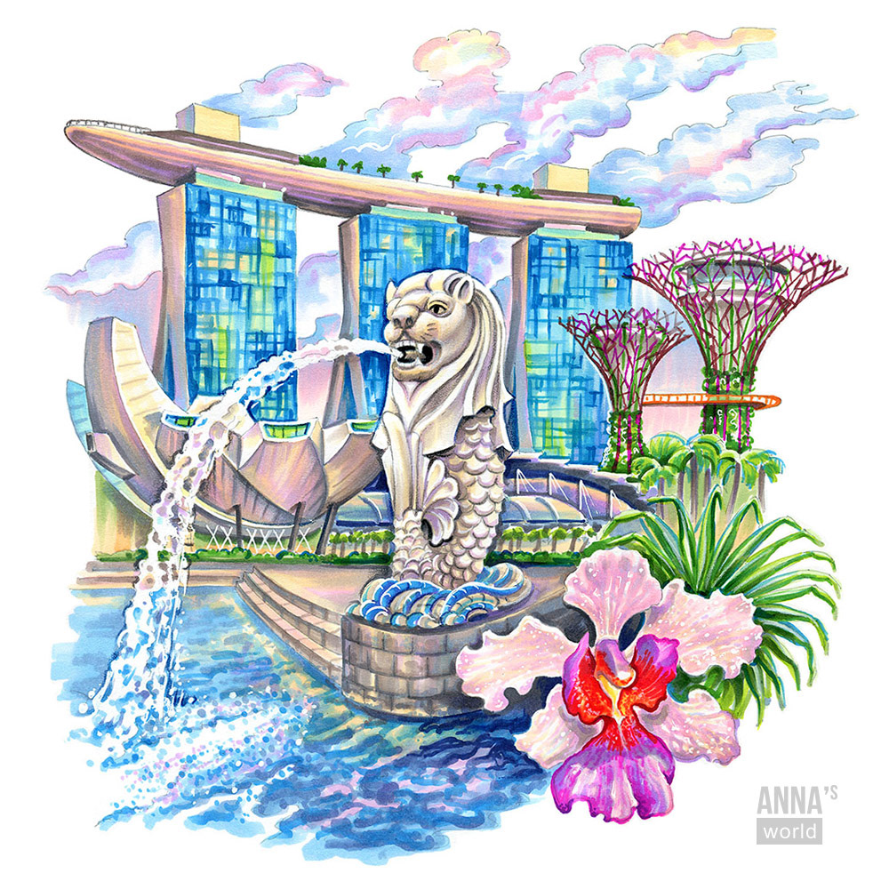 Prismacolor Pencils singapore hand drawn marker illustration Travelling ILLUSTRATION  Drawing  asia Competition Editorial Illustration
