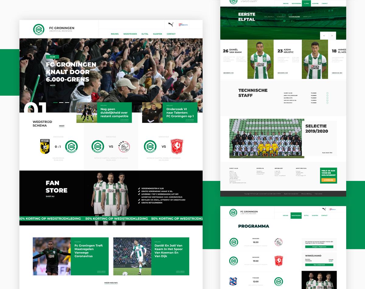 Fc Groningen Website Redesign On Behance