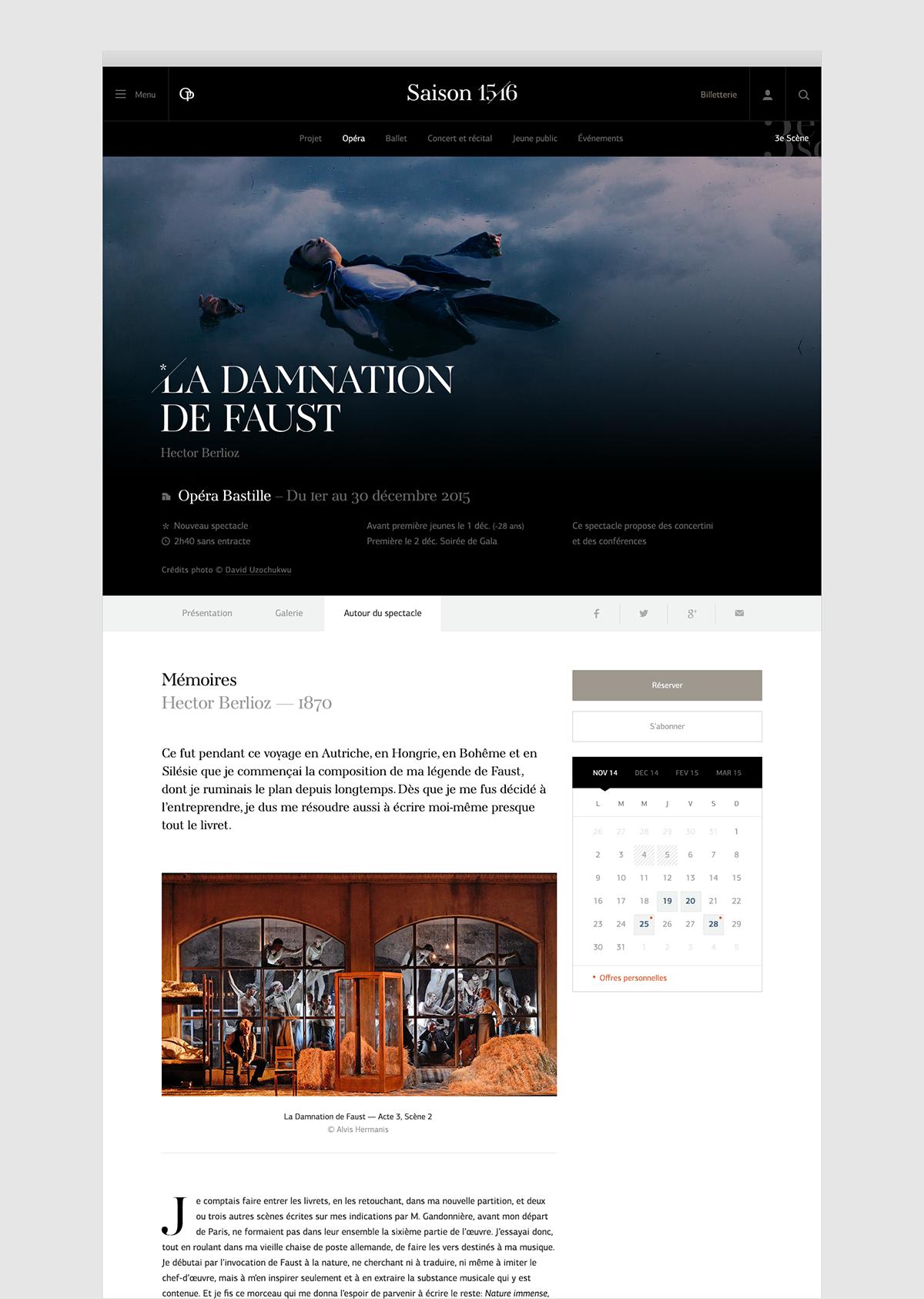 opera Editorial Website concert Garnier opera bastille ballet magazine