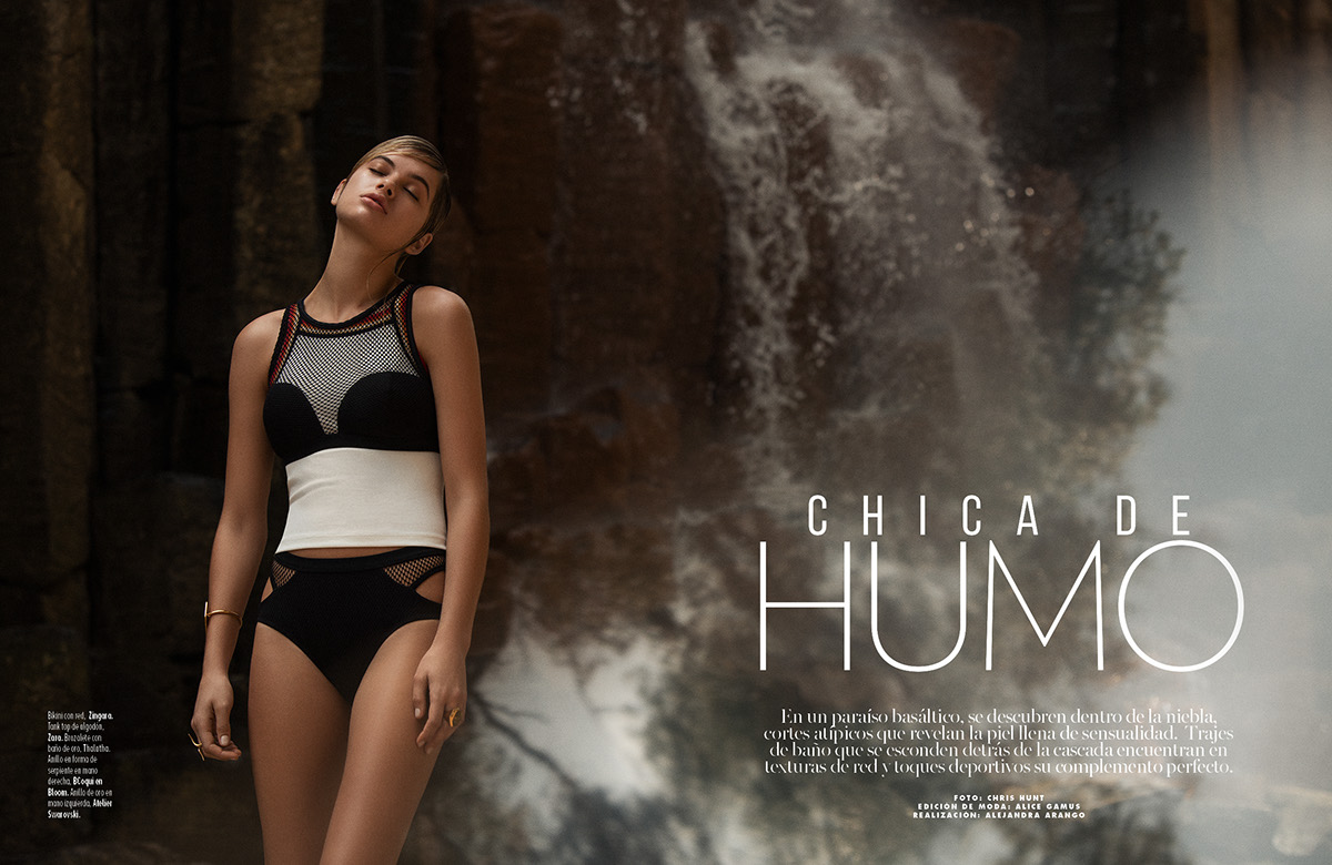 f3f824289 Marie Claire swimsuit editorial shoot on Behance