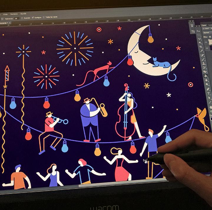 ILLUSTRATION  draw vector calendar lineart ilustracion dibujo lettering design sketch