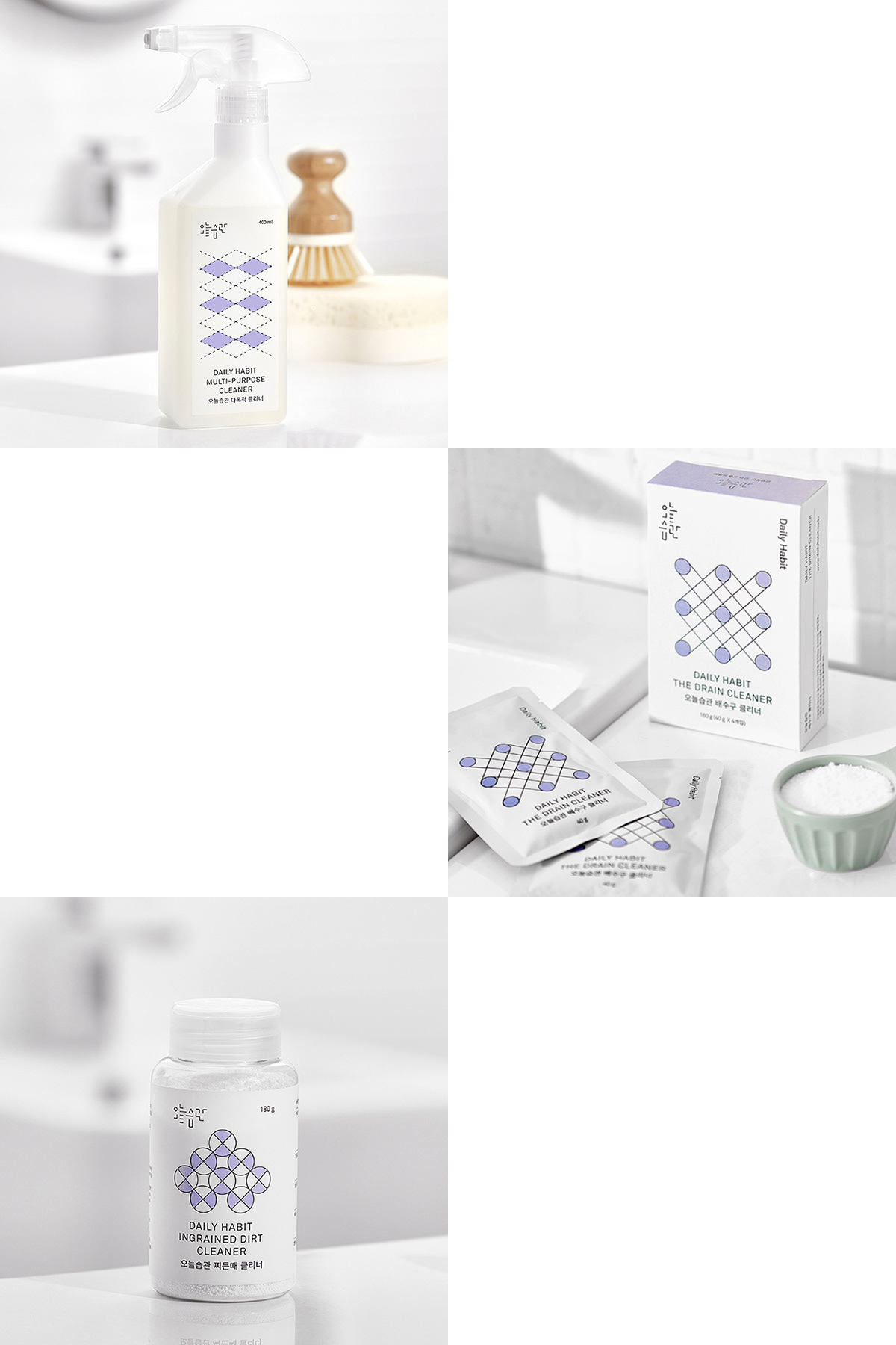 package clean Korea brand White print color