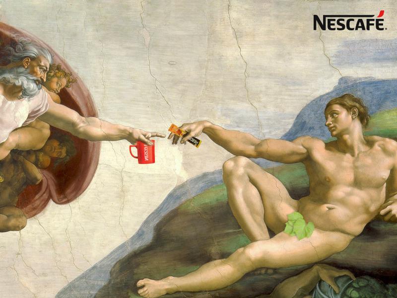nescafe cafe red ads