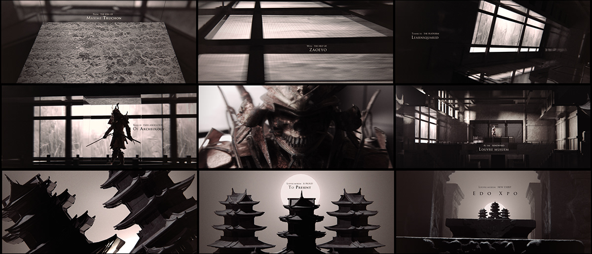 edo japan learn squared learnsquared Main title noir samurail styleframes title sequence zaoeyo