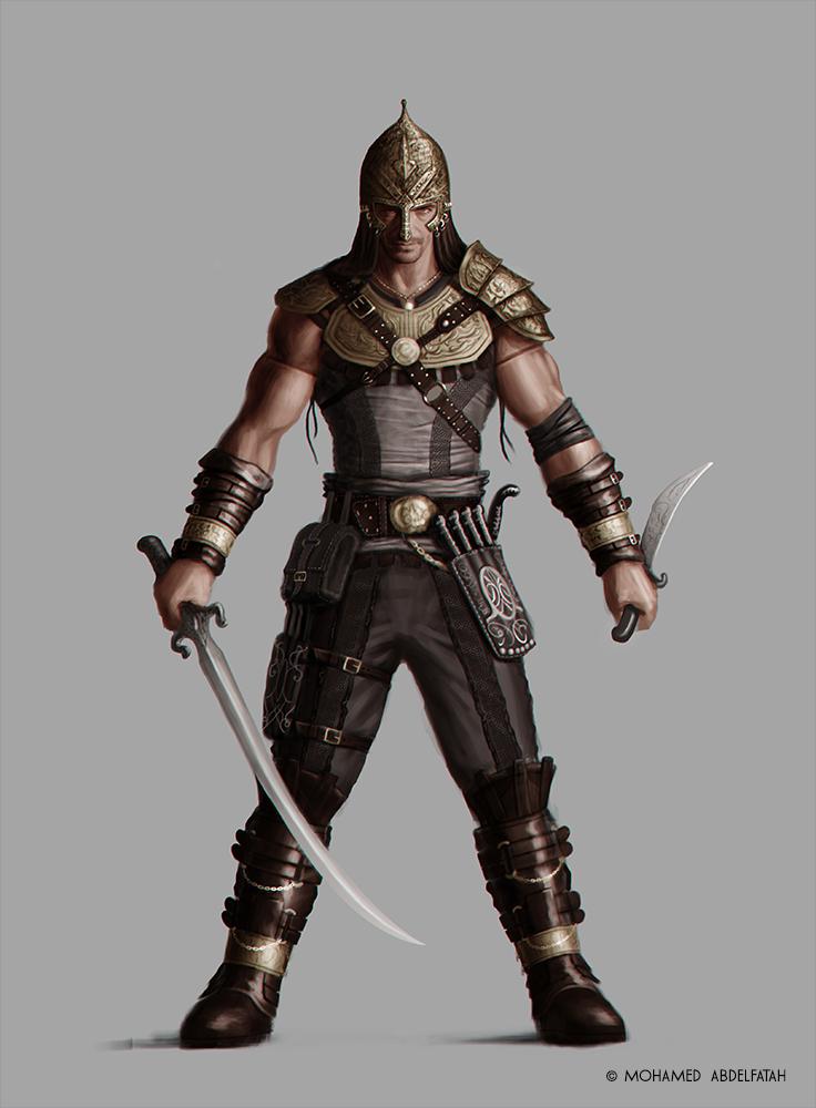 Concept Art Warrior Character