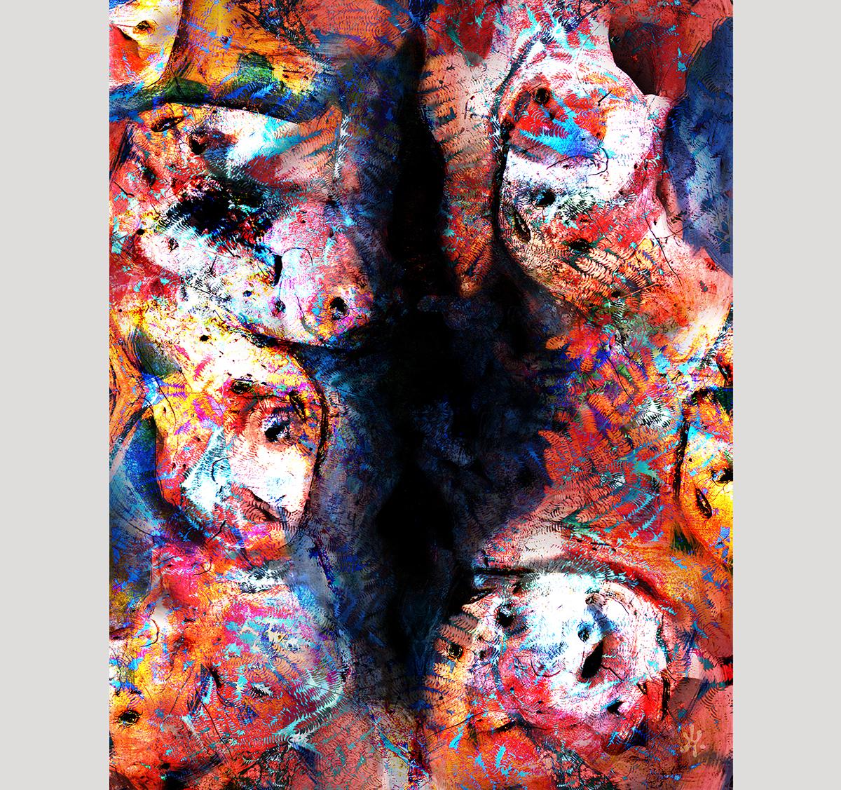 numérique art numérique photo abstrait peinture couleurs