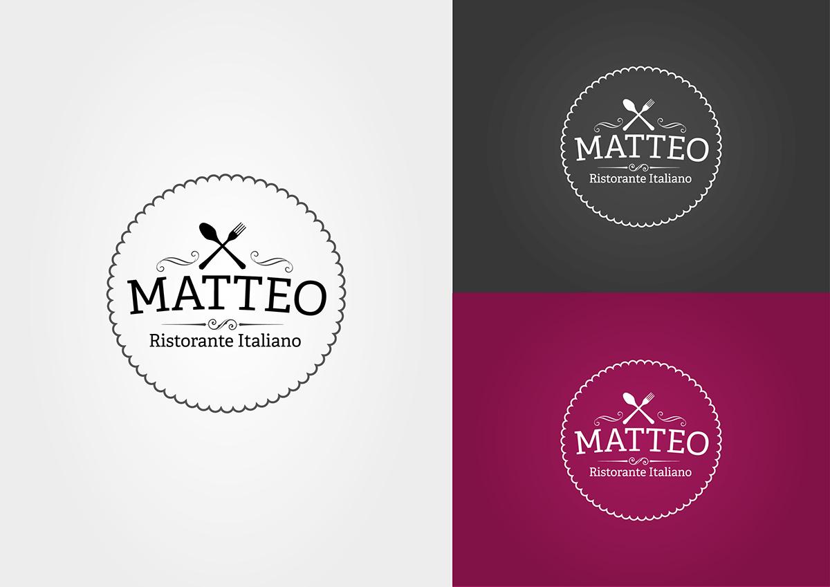 Identity Design For An Italian Restaurant Matteo On Behance