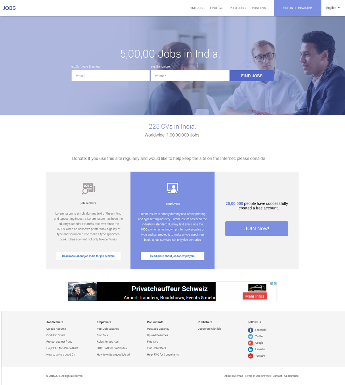 jobs site homepage on pantone canvas gallery jobs site homepage