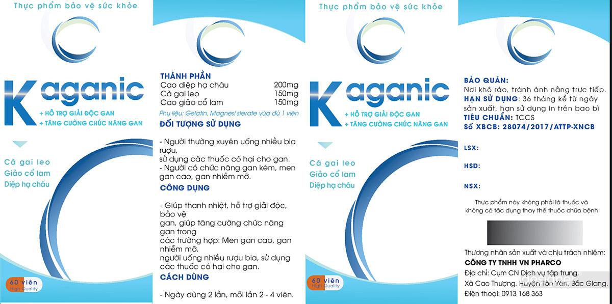 Thiết kế vỏ hộp thuốc Kaganic