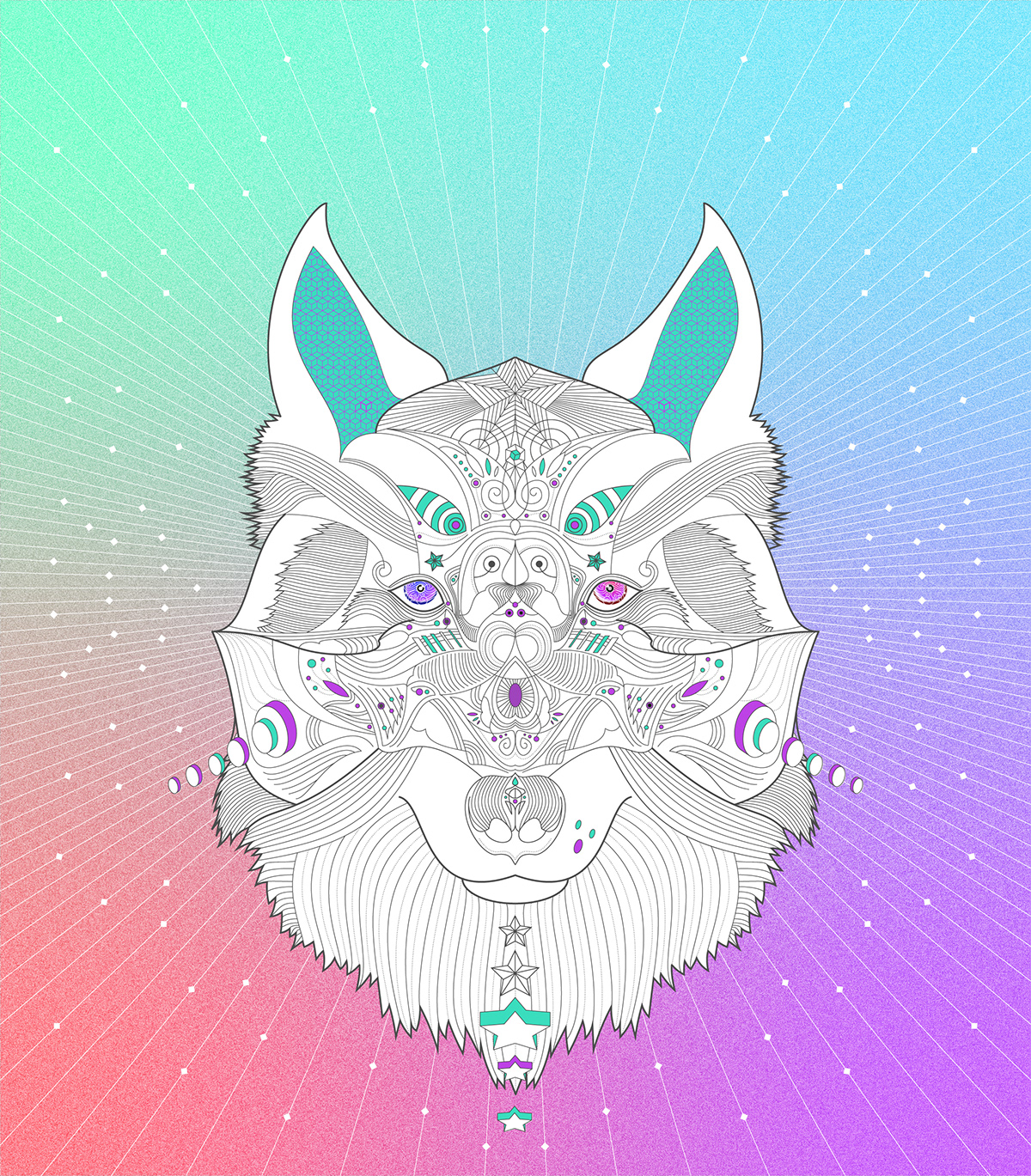 ILLUSTRATION  surrealism fantasy linework animals colour