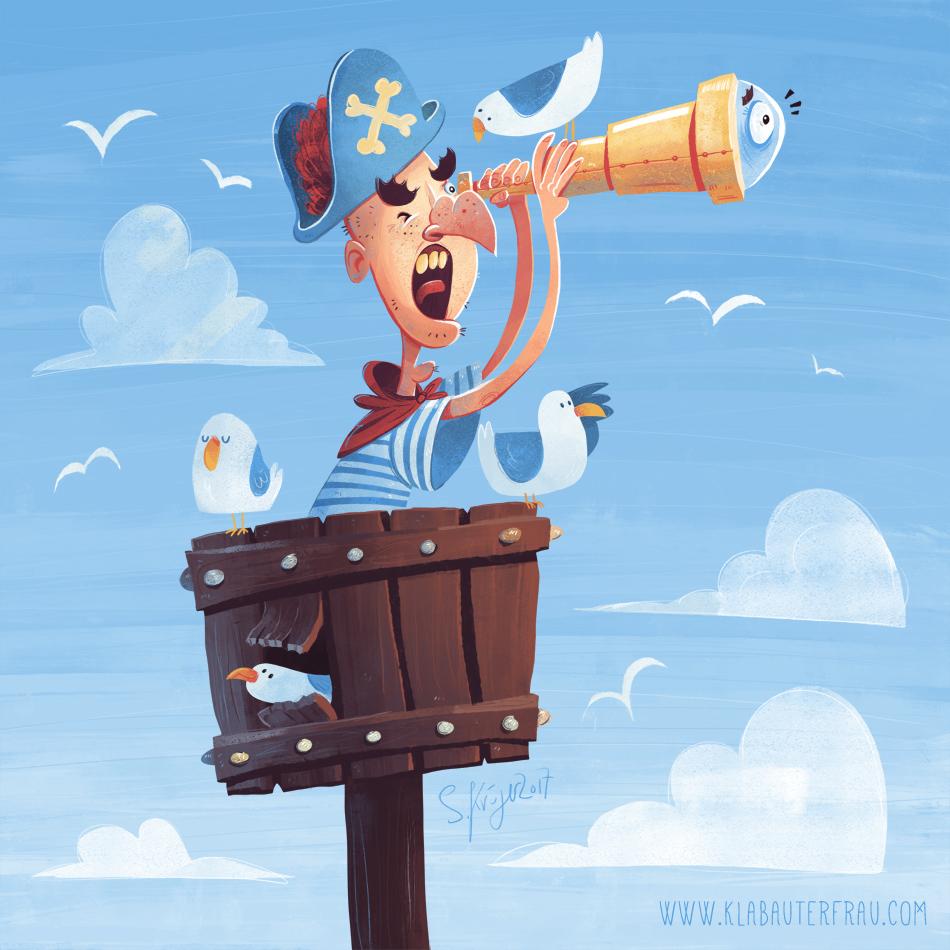 Land ahoy, Captain on Behance