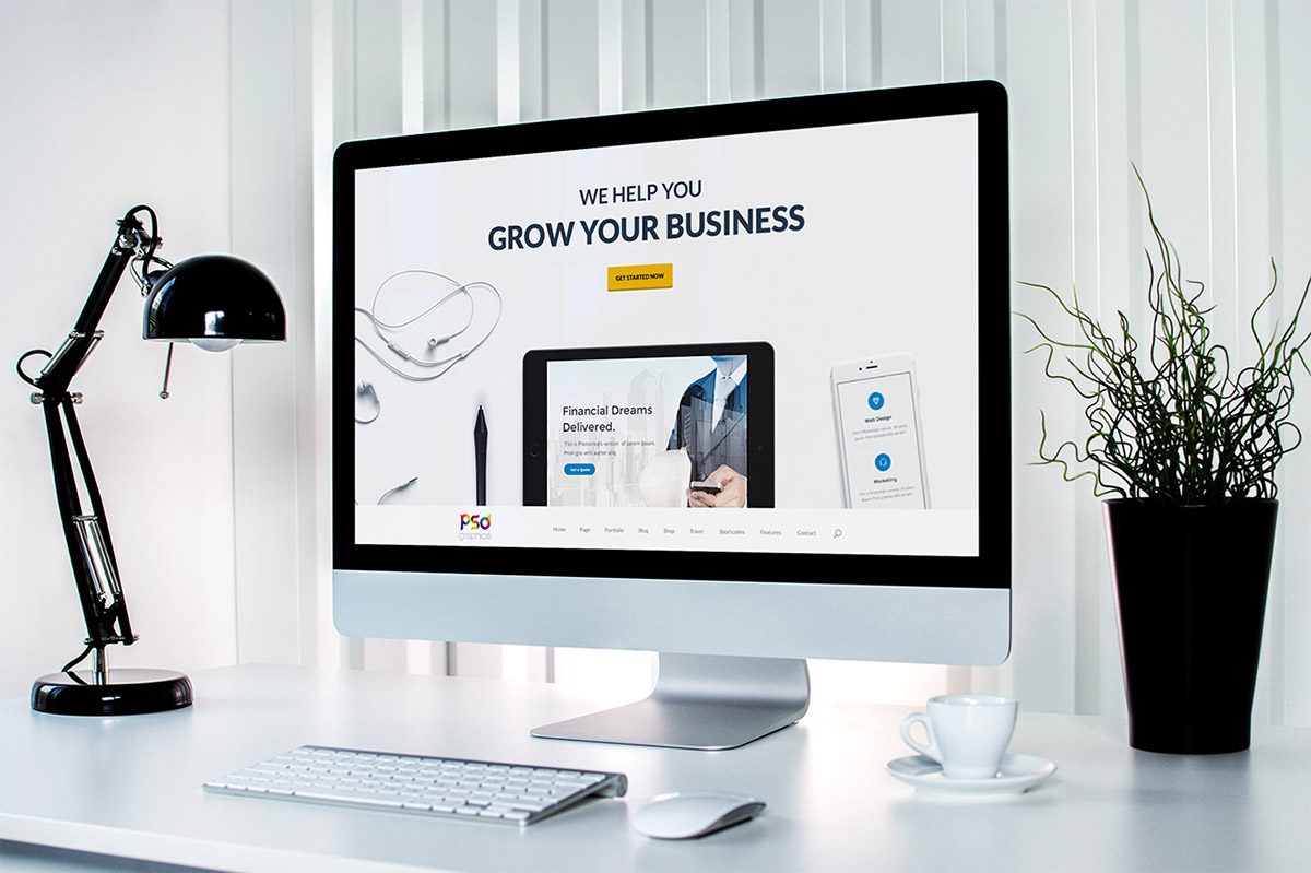 Freebie professional business website template psd on behance download professional business website template free psd here is a free exclusive psd of a creative website design that designers and small agencies who friedricerecipe Image collections
