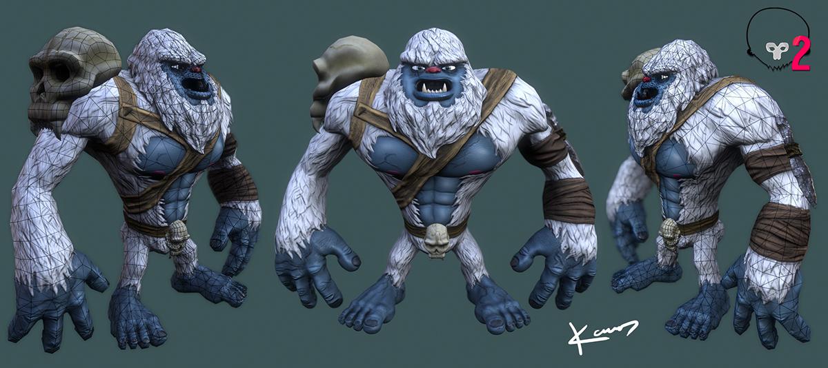 game 3D game model Zbrush TopoGun Character