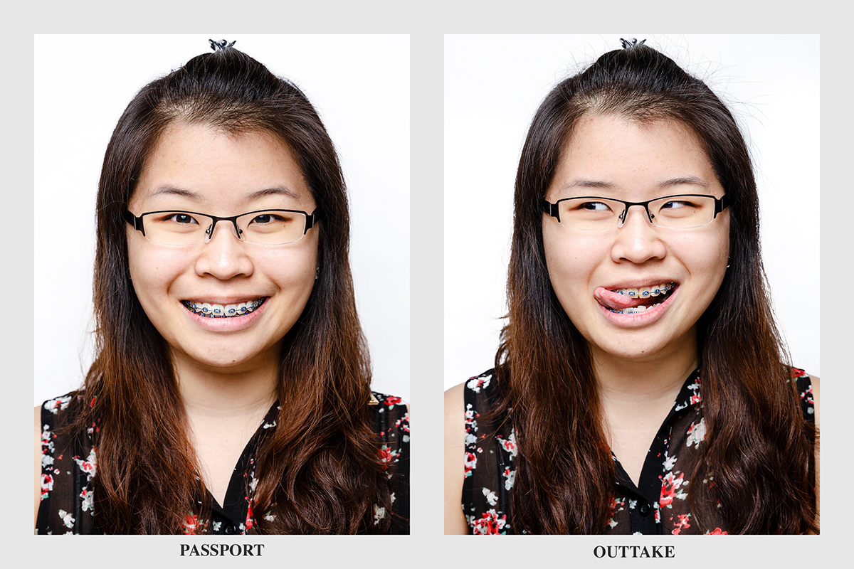 Passport portrait face humor individual