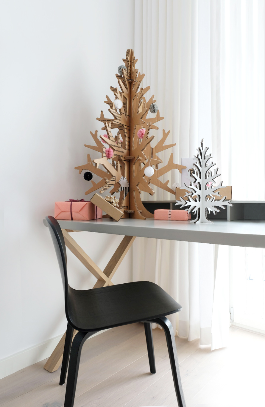cardboard  design  furniture  christmas recycling  eco  christmas Tree
