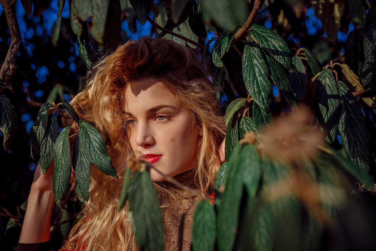 portrait model blonde golden hour Fashion  Outdoor woman face color photography Canon