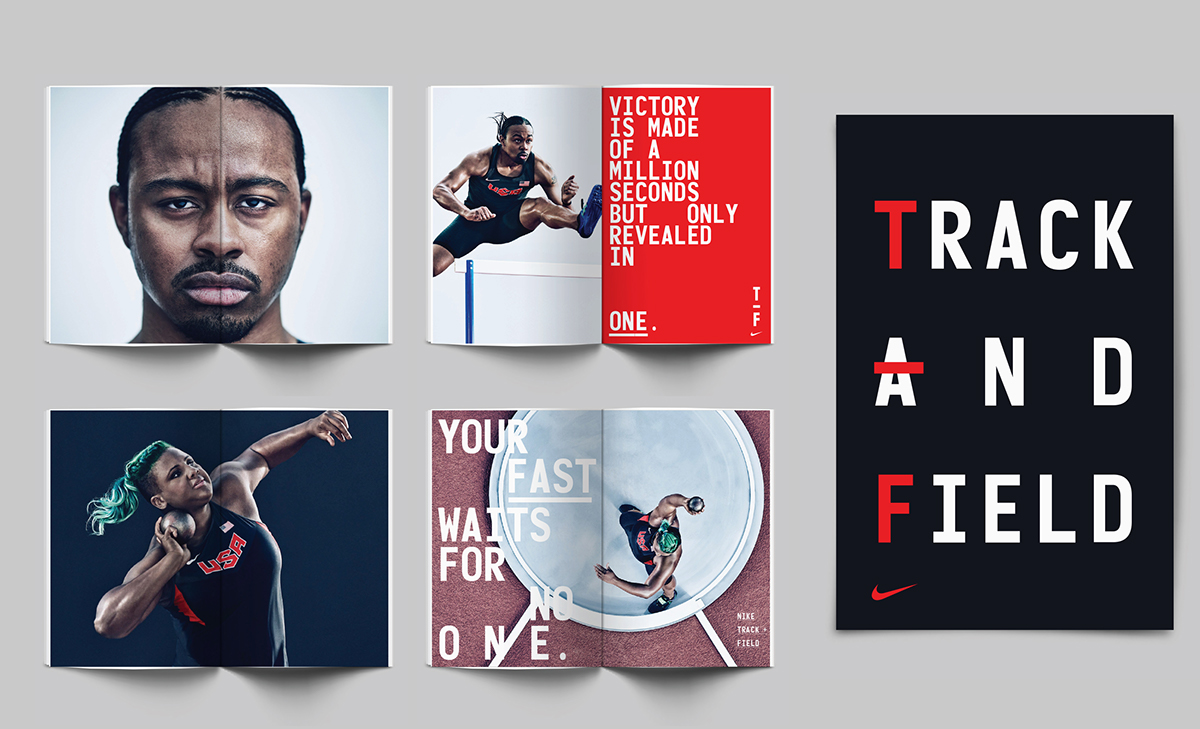 nike branding 2018-6-20 nike is adding another level of energy and momentum to its track + field visual identity.