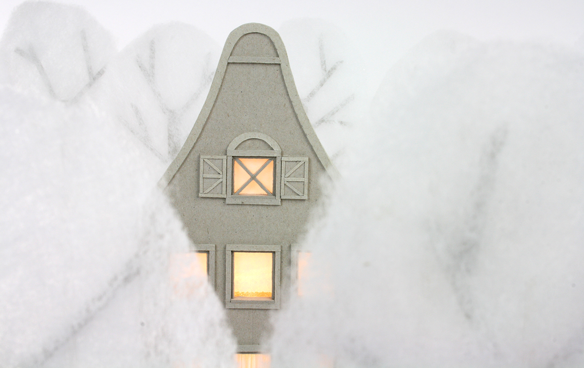 cardboard model canal house dutch Miniature craft
