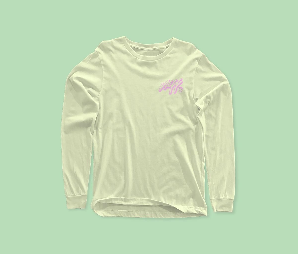 free long sleeve t shirt mockup on behance