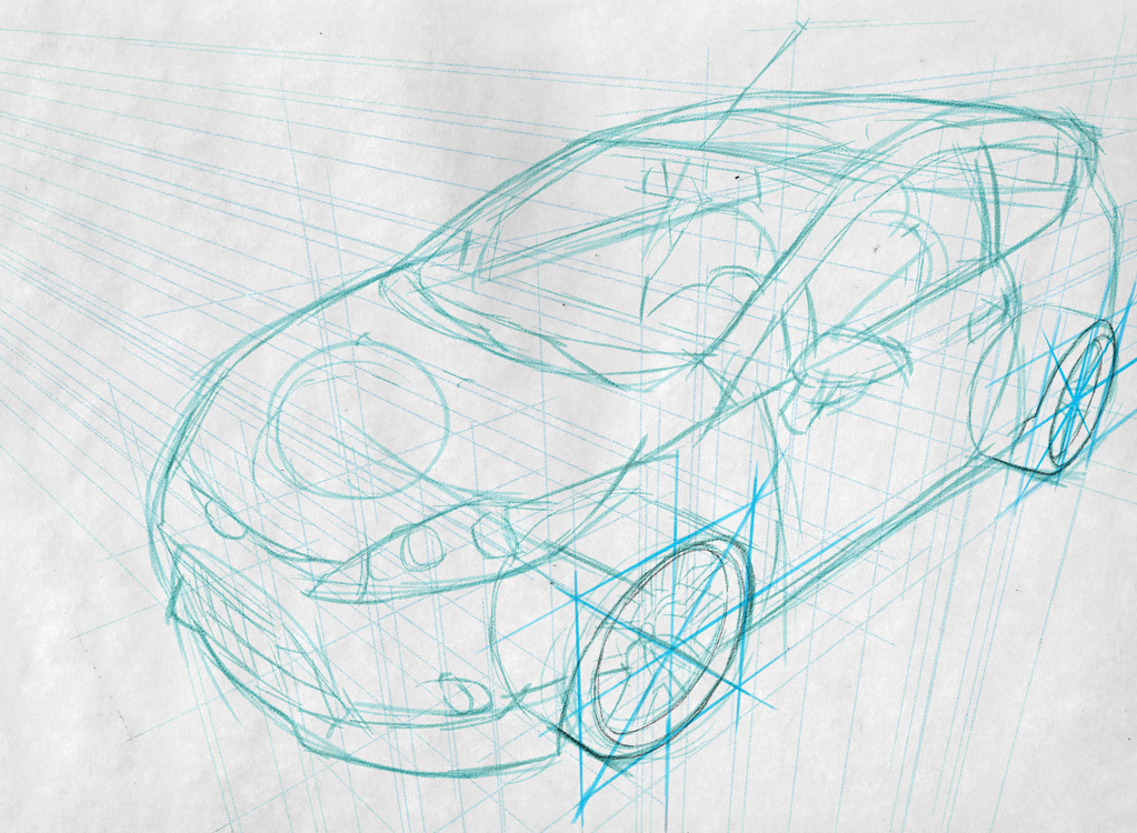 Car Drawing Techniques on Behance